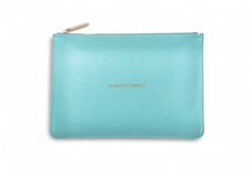 Katie Loxton ADVENTURE AWAITS Perfect Pouch Clutch Bag - Metallic Aqua
